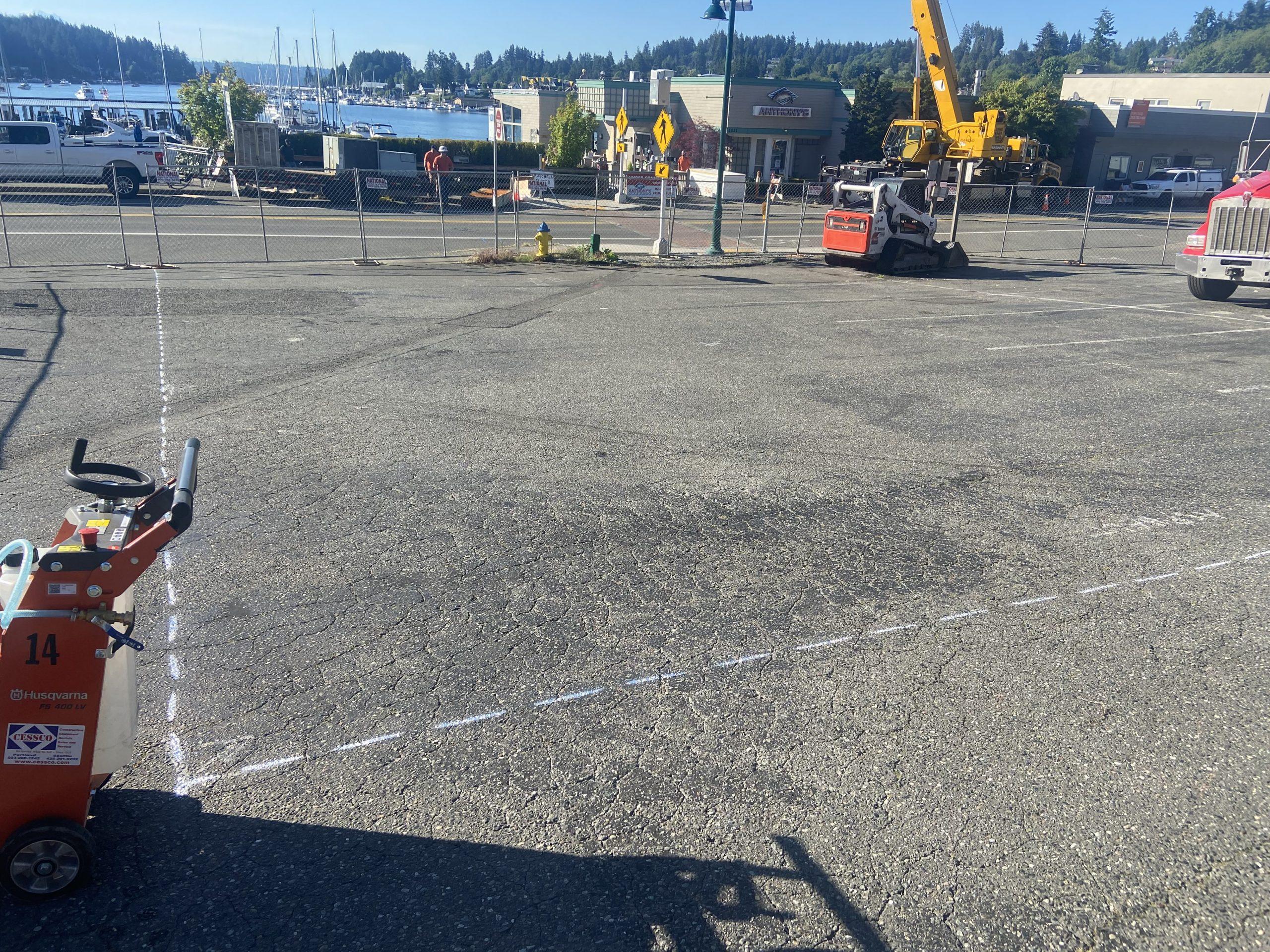 parking lot repair in Gig Harbor WA